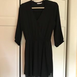 Nordstrom black wrap dress